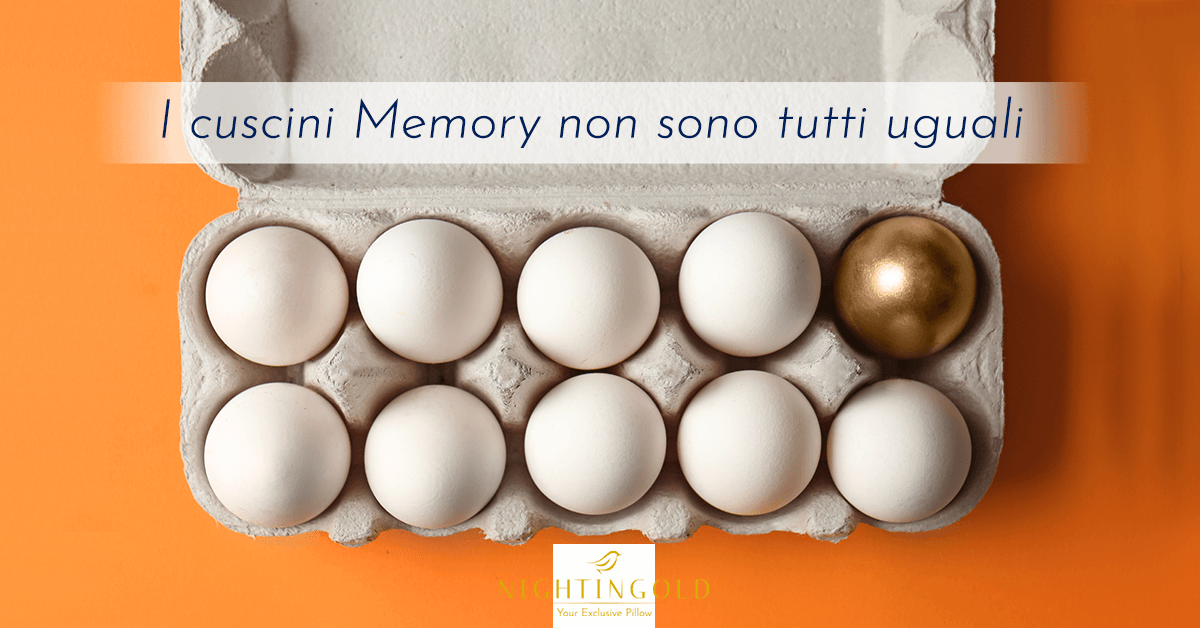 differenze tra un memory foam e il memory utilizzato da nightingold