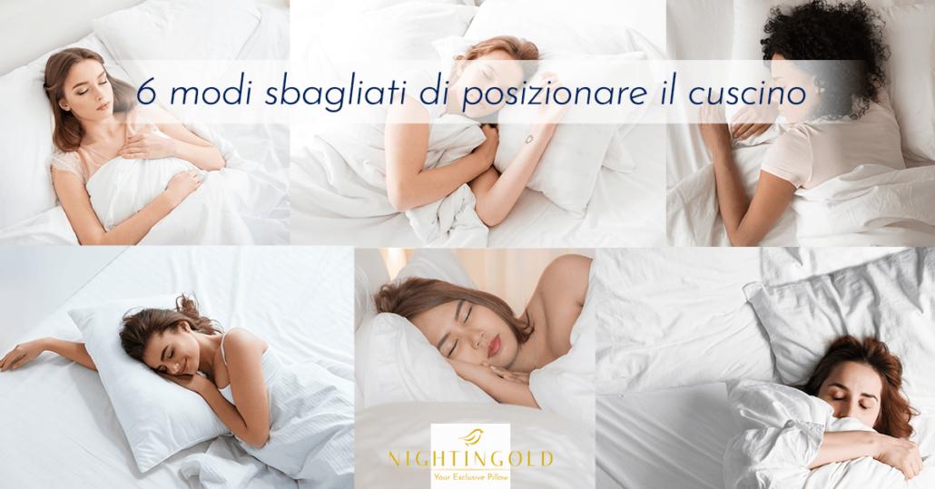 la posizione del cuscino è fondamentale per dormire bene