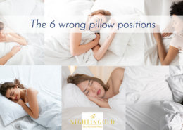 the position of the pillow is essential to sleep well